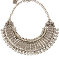 Relic Up Line Silver Statement Necklace