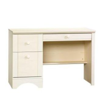 SAUDER, Harbor View Collection 43 in. Antiqued White Computer Desk with Slide-Out Keyboard Shelf, 401685 at The Home Depot - Mobile