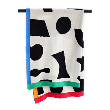 So into this design on Fab! Shapes Throw Blanket #FabForAll
