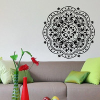 Wall Decal Vinyl Sticker Mandala Indian Ornament Art Design Room Nice Picture Decor Hall Wall Chu276