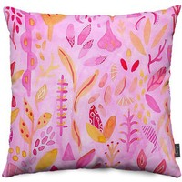 Flora Throw Pillows by Messy Bed Studio | Nuvango
