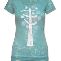 Spiral Tree Burnout Tunic T-Shirt: Soul-Flower Online Store