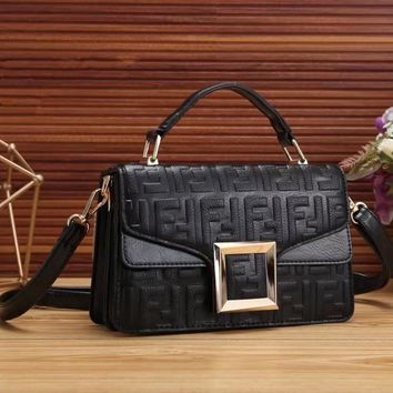 FENDI Fashion Women Shopping Handbag Crossbody Satchel Shoulder Bag-2