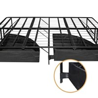 Set of 2 bonus base under bed storage drawers with casters