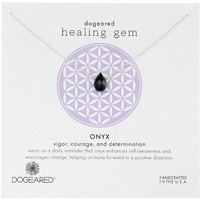 "Dogeared ""Lasting Healing Gems"" Onyx Gold Pendant Necklace, 16"""