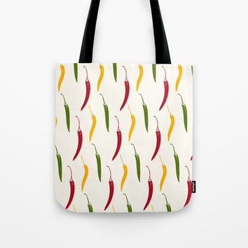 Mixed Chili Tote Bag by Minuskel-h