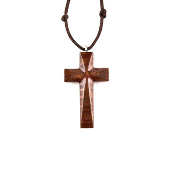 Wooden Cross Pendant, Wood Cross Necklace, Mens Cross Necklace, Wooden Cross Necklace, Christian Jewelry, Mens Cross Pendant, Carved Cross