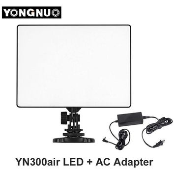 YONGNUO YN300 YN-300 Air LED Camera Video Light 3200K-5500K with AC Adapter for Canon Nikon Camera DSLR & Camcorder