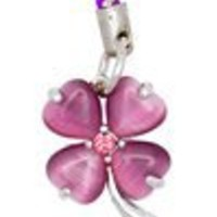 Clovers (Purple) Cellphone Charm CH135PP for Pantech cell