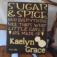 Personalized Baby Room Decor Baby Girl Sugar and Spice