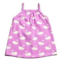 Pink Swans Tank Dress by Winter Water Factory