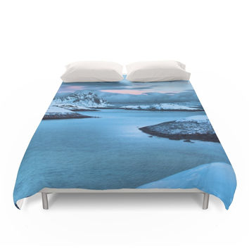 Society6 Clouds Roll In Duvet Cover