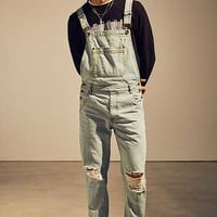 BDG Grey Acid Wash Overall | Urban Outfitters
