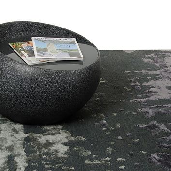 Contemporary Round Granite Painted End Table