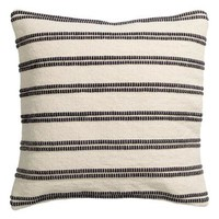 Jacquard-weave cushion cover - White/Striped - Home All | H&M GB