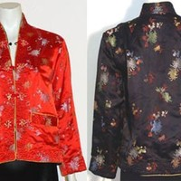 Vintage Reversible Oriental Satin Jacket