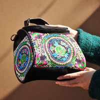 Chinese Style National Handbag Yunnan ethnic Embroidery Bags women embroidered Shoulder Messenger Bag Travel Tote Handbag