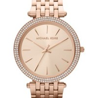 Michael Kors Women's Darci Rose Gold-Tone Stainless Steel Bracelet Watch 39mm MK3192 | macys.com