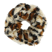 Fluffy Scrunchie - Leopard