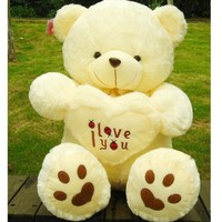 Giant Plush Bear Full Bear Soft Gift for Valentine Day Birthday