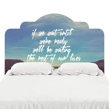 Our Lives Headboard Decal