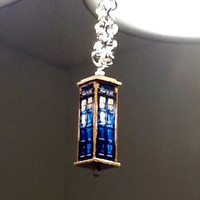 Tardis Necklace Handmade Doctor Who Necklace by BelmouridaDesign