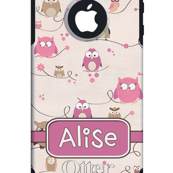 OTTERBOX Commuter iPhone 5 5S 5C 4/4s Case Funny Owl Girls Pink Personalized Monogram