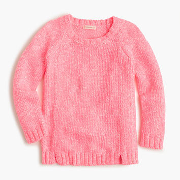 crewcuts Girls Marled Cotton Popover Sweater