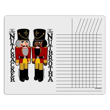 The Nutcracker and Nutbrotha Chore List Grid Dry Erase Board by TooLoud