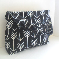 Arrow Diaper Bag in Black - Diaper Bag - Black Arrow - Messenger Bag - Nappy Bag - Crossbody - Arrow Diaper Bag - Cross Body - Laptop Bag