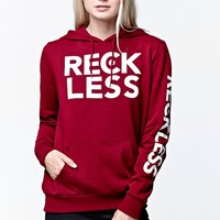Young & Reckless Super Stacked Pullover Hoodie - Womens Hoodie - Red