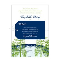 Lake View Wedding Invitation Suite