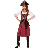 Pirate Girl Costume - Adult Plus (Red)