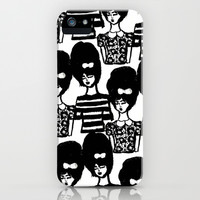 Bouffant Girls iPhone & iPod Case by Bouffants And Broken Hearts