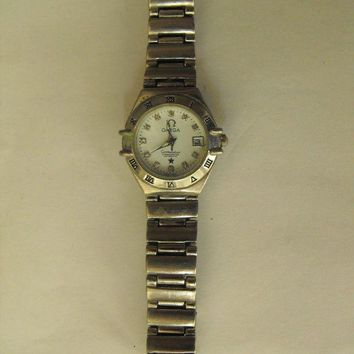 ONETOW OMEGA CONSTELLATION CHRONMETER AUTOMATIC LADIES WATCH DIAMOND HOURS SWISS MADE