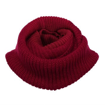 High Quality Hot Women Lady Winter Warm Infinity 2 Circle Cable Knit Cowl Neck Long Scarf Shawl For Women