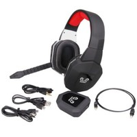 HUHD HW-399M 2.4Ghz Fiber-optical Wireless Gaming Headset for 2.4Ghz, Xbox One, Xbox 360, PS4, PS3, PC, Detachable Microphone, Noise Cancelling, Upgraded Version