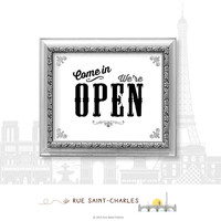 Come in we are OPEN sign printable signage instant download 8x10 business signage, printable signs, business signs, open sign, closed sign