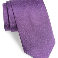 David Donahue Medallion Silk Tie | Nordstrom
