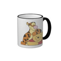 Winnie The Pooh Tigger and Pooh Best Friends Ringer Coffee Mug