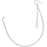 Handcrafted Nose to Ear Sparkling Chain MADE WITH SWAROVSKI ELEMENTS | Body Candy Body Jewelry
