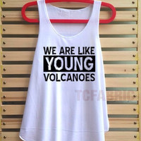 fall out boy young volcanoes shirt fall out boy loose fit tank top clothing vest tee tunic singlet women shirt - size S M L