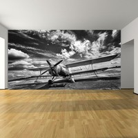 Custom Designed Wallpaper Vintage Airplane