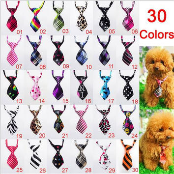 2016 Factory Hot Sale New Colorful Handmade Adjustable Dog Ties Pet Bow Ties Cat Neckties Grooming Supplies D5077-01-15