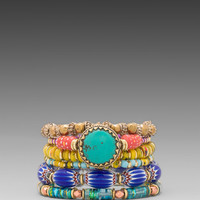 Vanessa Mooney Eye of the Storm Bracelet Set in Multi