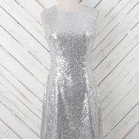 Altar'd State Silvery Sequin Dress | Altar'd State