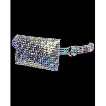 Studded Translucent Belt With Pouch