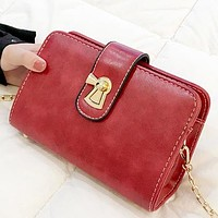Fashion New  Leather Shopping Leisure Shoulder Bag Crossbody Bag Red