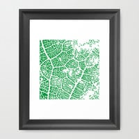 Leaf Texture Framed Art Print by Jcks