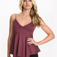 Spaghetti Strap V-Neck Layered Top